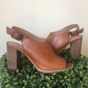 Madewell | The Cary Sandal Tan Block Heel Size 8